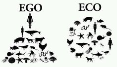 ego vs. eco --- this is the reason we are destroying Mother Earth! Once people get this reality...we can change our fate!
