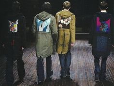 from the AW 2003 collection by Raf Simons x Peter Saville