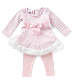 Bonnie Baby Baby Girls Newborn24 Months Striped Santa FitAndFlare Dress and Solid Leggings Set #Dillards
