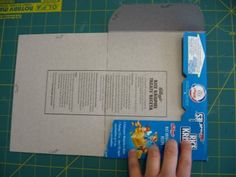 ever wonder what to do with your cereal boxes? make your own envelopes and postcards!