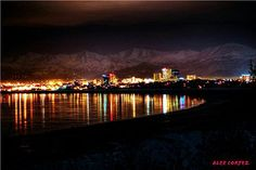"""AccuFan Weather Photo of the Day: Anchorage Skyline in Alaska by """"akace62"""" 2/22/13."""
