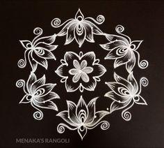 Big Rangoli Design For Diwali Simple Rangoli Kolam, Easy Diwali Rangoli, Simple Rangoli Border Designs, Basic Mehndi Designs, Rangoli Designs Flower, Free Hand Rangoli Design, Small Rangoli Design, Rangoli Ideas, Rangoli Kolam Designs