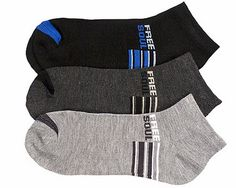 6 Pair Socks Size 6-8 Boys Anklet Low Cut Striped FREE SOUL Set Pack Lot #PowerClub #Casual
