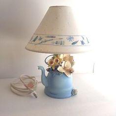Collectible Marjolein Bastin Hallmark Blue Skies Lamp with Lampshade Excellent   eBay