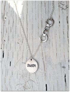 """Les Miserables """"24601"""" Handcuffs Necklace (Sterling Upgrade Available)"""