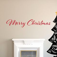 Image of Wall Quote - Merry Christmas Wall Quotes, Wall Prints, Vinyl Decals, Merry Christmas, Nursery, Image, Design, Home Decor, Merry Little Christmas