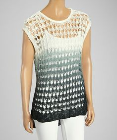 This White & Gray Dip-Dye Crocheted Tunic by 321 Charlie is perfect! #zulilyfinds