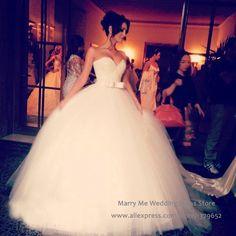 Encontre mais Vestidos de noiva Informações sobre 2016 primavera querida cristais vestido de baile vestido de rendas de tule longo China MA114, de alta qualidade mini vestido, vestido de pontos China Fornecedores, Barato vestir vitrine de Marry Me Wedding Dress Store em Aliexpress.com