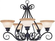 Maxim Lighting 2655MRKB Pacific 5Light Chandelier Kentucky Bronze >>> Visit the image link more details.