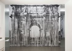 Shredded Paper Strips Form Larger Landscapes - My Modern Metropolis