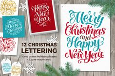 Christmas Lettering | Holidays Cards @creativework247
