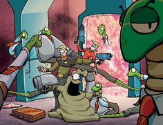 Schlock Mercenary is JUST the most awesome webcomic in existence! Reading can be addictive, leading to long hours in front of your monitor, trying to catch up on a decade of backstory......true story! :oD