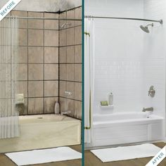 Best Bath Fitter BeforeAfter Images On Pinterest Bath Fitter - Acrylic bathroom remodeling