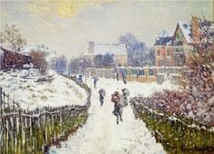 Boulevard Saint-Denis, Argenteuil, in Winter - Claude Monet