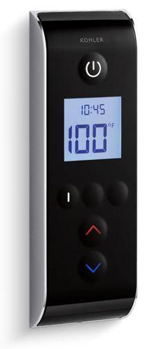 Kohler DTV Prompt Three Outlet Digital Interface With Eco Mode Diverter  Black Black Showers Digital Shower Controls Electronic