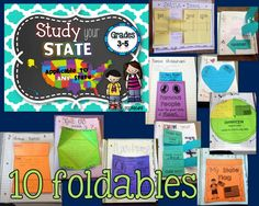 Study your State- Interactive Notebook and Printables, applicable to ANY STATE!