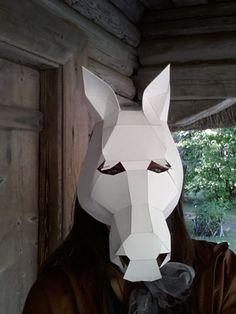 DIY Halloween masks Make your own Horse Mask by MiesmesaBerni