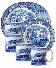 "Spode \""Blue Italian\"" 12-Piece Dinnerware Set"