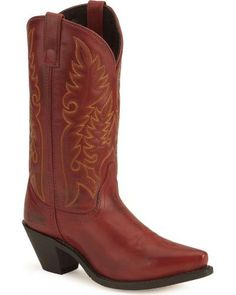 Laredo High Heel Red Cowgirl Boots
