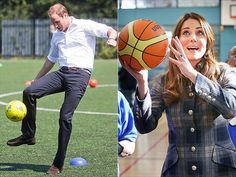 Prince William & Kate's Bucket List | BE GOOD SPORTS | And the duke and duchess aren't afraid to get a little bit sweaty, either, in the name of fulfilling their royal duties. Whether William's kicking the ol' soccer ball around during an August 2012 visit to Bacon's College or Kate's shooting hoops at an April 2013 stop by Scotland's Emirates Arena, these royals are always team players when it comes to boat racing, volleyball and anything active.Next up: Little League for George.