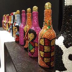 """Voodoo art bottles by artisan Axelle Liautaud at #SIDIM"""""""