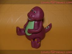 Barney Character Tutorials for Cake or Clay