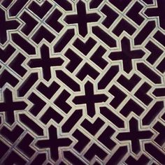 This pattern is from a floor grate in the Frankfurt Cathedral (built in the 14th and 15th centuries).