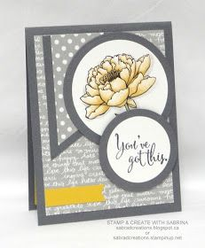 Stamp & Create With Sabrina: You've Got This - Touch of So Saffron