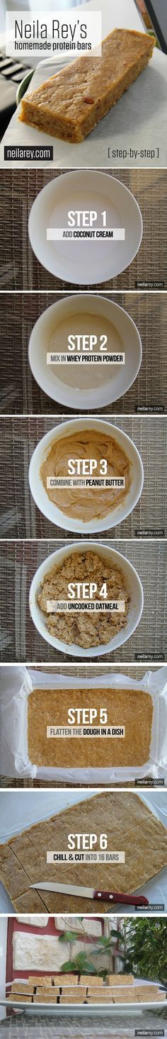 Homemade Protein Bars / Step-by-Step Recipe