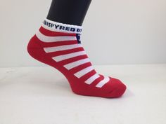 USA Inspyred running socks with cool max fabric. Feel the pride inside when you where these beauties