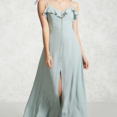 Flowy Button-Up Maxi Dress