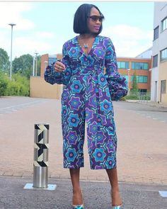 Rock the Latest Ankara Jumpsuit Styles these ankara jumpsuit styles and designs are the classiest in the fashion world today. try these Latest Ankara Jumpsuit Styles 2018 African Wear, African Women, African Dress, African Fashion, African Clothes, African Style, Unique Ankara Styles, Ankara Jumpsuit, Trouser Outfits