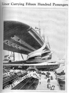 Aircraft giant An Art deco vision of the future Zeppelin, Sience Fiction, Le Figaro, Steampunk, Days Of Future Past, Flying Boat, Camo Colors, Alternate History, Futuristic Cars