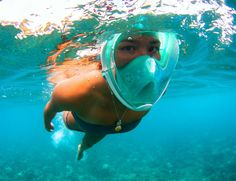 Become a warrior of the water with the H20 Ninja Full Face Snorkeling Mask.