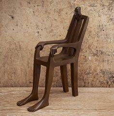 Creative Chair Sculpture by Isabel Miramontes http://webneel.com/metal-sculptures | Design Inspiration http://webneel.com | Follow us www.pinterest.com/webneel