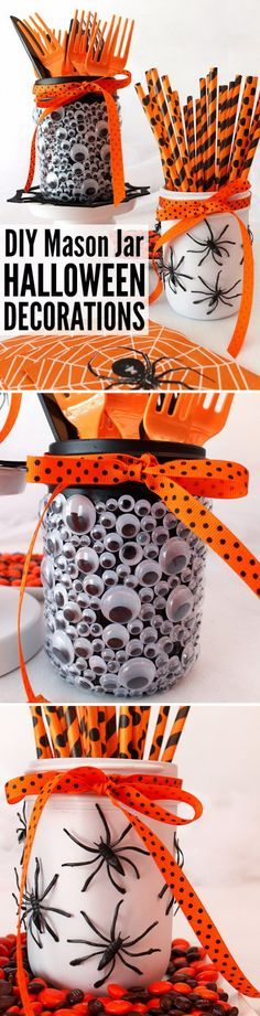 30+ Creative and Fun Ways to Decorate with Mason Jars for Halloween