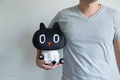 「限定宇宙飛行士」 宇宙飛行士クロロ、憧れの白い宇宙服を着て、いざ出発。広い未知の世界では何が待ってるんだろう?  #kuroro #黑貓 #貓 #クロロ #黒猫 #猫 #tokyogiftshow #宇宙飛行士 #東京ギフトショー #ぬいぐるみ