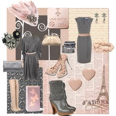 Light Pink & Grey Fashion Collage I Made