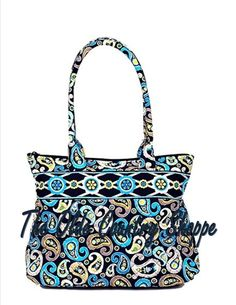 American Made Stephanie Dawn  New Uptown Bag in New pattern  Catalina