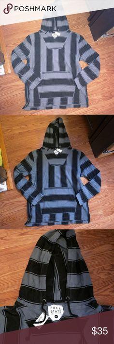 Aeropostale Baja hoodie Men's Aeropostale striped Baja hoodie, brand new with tag Aeropostale Shirts Sweatshirts & Hoodies