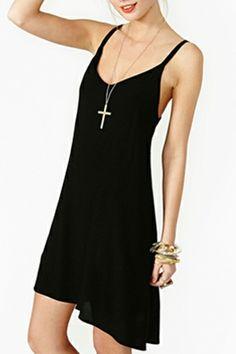 Little Black Dress with Shoulder-Straps