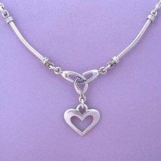 Celtic Eternity Knot Heart Pendant Necklace