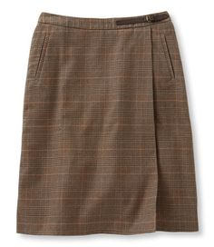 Weekend Faux Wrap Skirt, Prince of Wales: Skirts | Free Shipping at L.L.Bean