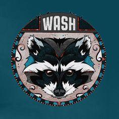 My Wonderful Walls Raccoon Animal Wash Wall Decal Size: Medium