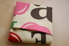 How to fold a fat quarter parcel, would be brilliant for a quilter's gift basket.
