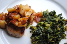 Bacon and apple porkchops - We Got Real