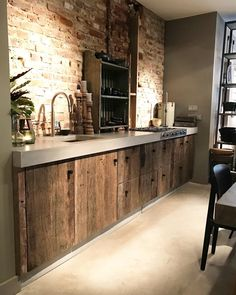 ITALIAN LUXURY DESIGN on Good Morning. have a great week . love this rustic Kitchen. Contact me Rustic Kitchen Design, Interior Design Kitchen, Kitchen Decor, Küchen Design, House Design, Loft Interior, Kitchen On A Budget, Cool Kitchens, Luxury Kitchens