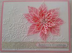 Vellum Poinsettias Christmas Card.