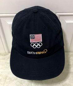 USA Olympics Sixth Ring Hat Embroidered Flag Logo Team USA Official Cap   TeamUSA  BaseballCap  Olympics  sixthring ede47b94c1b3