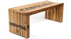 Pallet Wood Slat Bench.